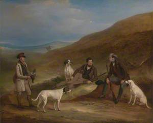 Edward Horner Reynard and His Brother George Grouse – Shooting at Middlesmoor, Yorkshire, with Their Gamekeeper Tully Lamb