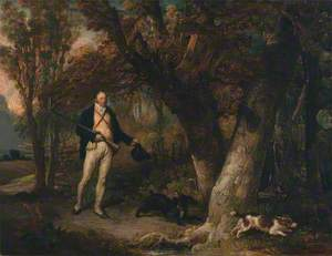 The Reverend Thomas Levett and Favourite Dogs, Cock-Shooting
