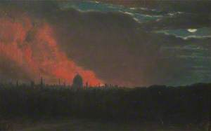 Fire in London, Seen from Hampstead