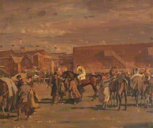 Saddling Up for the Grand National, 1919: Before the Snowstorm