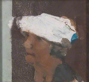 Study of a Head with a White Hat