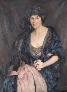 Lady in Blue (Lillian Emily Nutt, Mrs Lingeman)