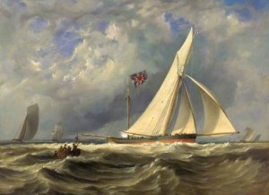The 'Alarm' Winning the Ladies Challenge Cup at Cowes, 14 August 1830