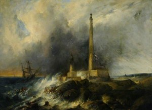 The Lighthouse at Gatteville, near Barfleur, after a Storm