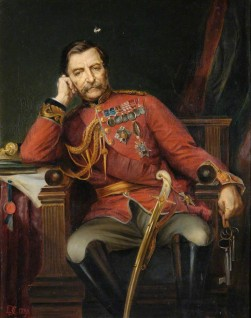 (General the Right Honourable Robert Cornellis, 1810–1890, Baron the Lord Napier of Magdala, GCB, GCSI, Governor of Gibraltar, 1876–1883), 1890, oil on canvas by Lowes Cato Dickinson (1819–1908)