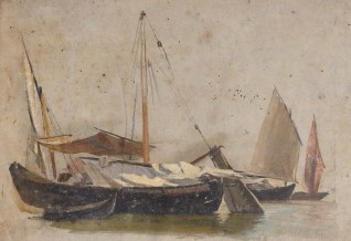 oil & pencil on paper by Thomas Stuart Smith (1813–1869)