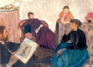 1948, oil on canvas by Geoffrey Arthur Tibble (1909–1952)