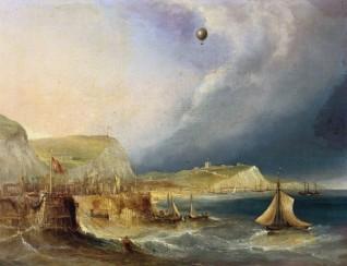 c.1840 oil on canvas by Edward William Cocks (b.c.1803)
