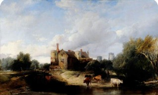 oil on canvas by Henry Bright (1810–1873)