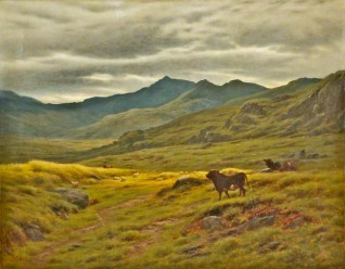 oil on canvas by Joseph P. Knight