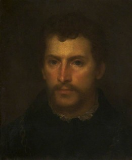 (after Titian's 'Portrait of a Young Englishman') (formerly attributed to Cornelius Johnson), oil on canvas, after Titian (c.1488–1576)