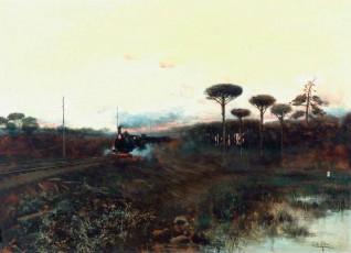oil on canvas by Eduardo de Alba y Masas (1852–1900) (attributed to)