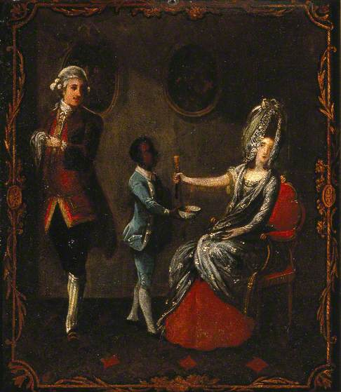 A Surgeon and His Black Slave Letting Blood from a Lady's Arm