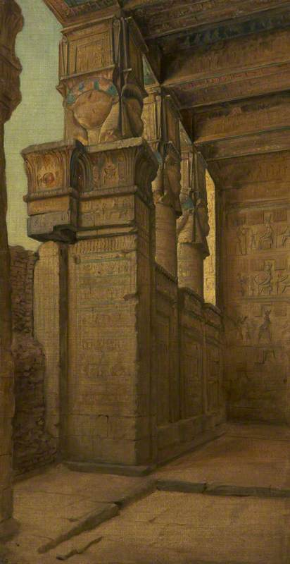 Interior of an Egyptian Temple