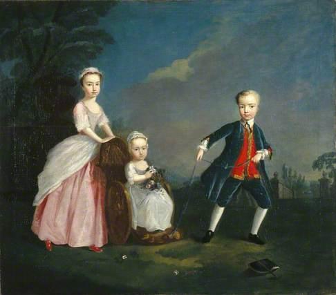 Three Children in a Park
