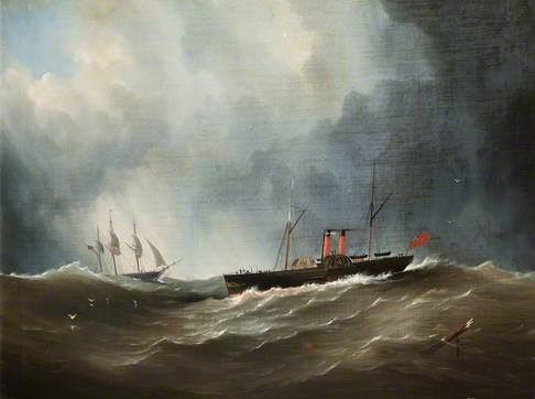 Paddle Steamer at Douglas