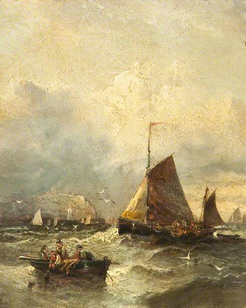 Seascape - Fishing Boats