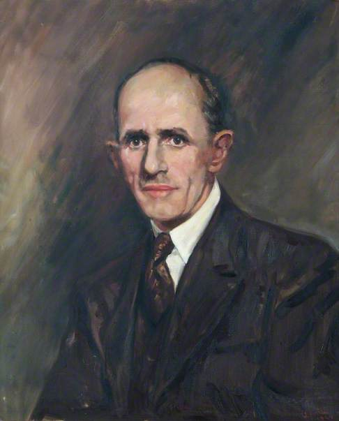 Portrait of and Unknown Man in a Dark Suit and Tie