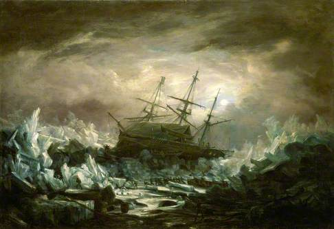 Perilous Position of HMS. 'Terror', Captain Back, in the Arctic Regions in the Summer of 1837