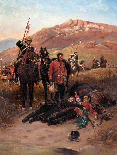 Zulu War Scene: After the Battle