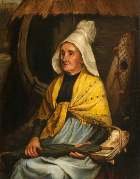 Said to be Florence Nightingale's Housekeeper, Mrs Clarke, but really a Breton Fisherwoman (?)