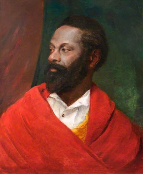 Unknown Portrait of Bearded Man with Red Cloak