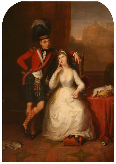 Marriage Portrait of Colonel James Stewart to Wilhelmina Kerr, 1803