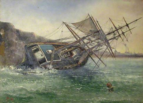 Wreck of the Norwegian Barque 'Jernaes of Risar'