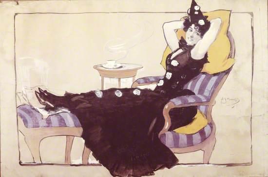 Pierrette (Reclining Lady)
