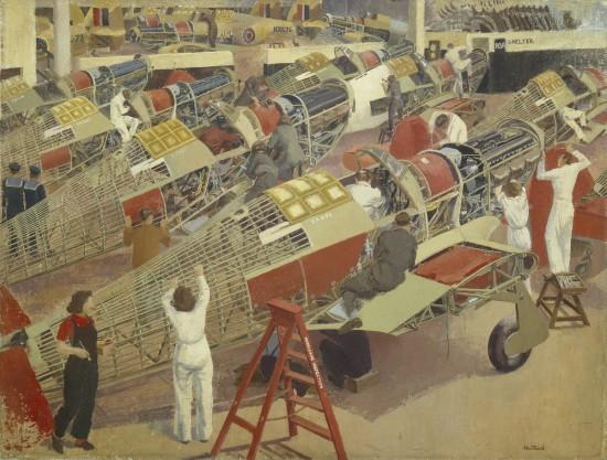 Assembling_a_Hawker_Hurricane_1947_402_Elsie_Dalton_Hewland_jpg