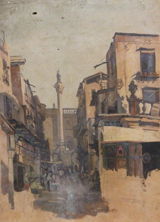 Colonna dell'Immacolata from the Via Macherroni, Palermo