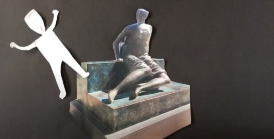 Animation inspired by Henry Moore's Draped Seated Woman