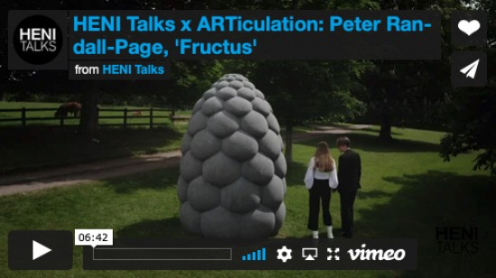 HENI Talks x ARTiculation: 'Fructus' by Peter Randall-Page