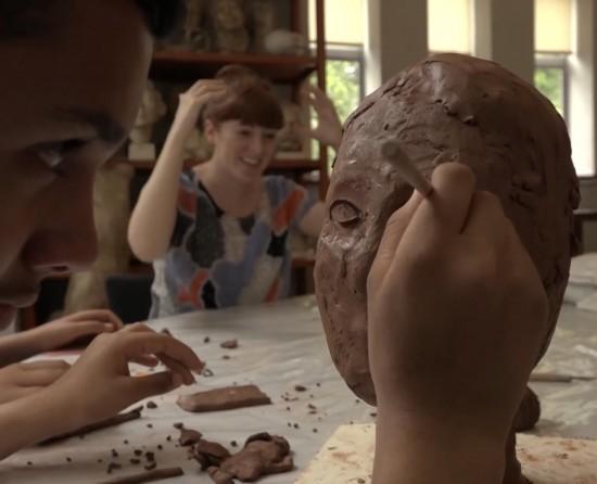 Model a clay head
