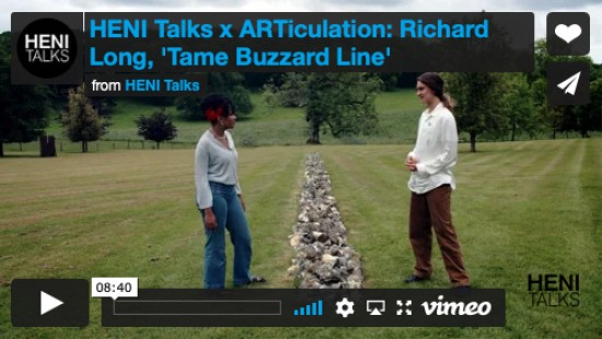 HENI Talks x ARTiculation: 'Tame Buzzard Line' by Richard Long
