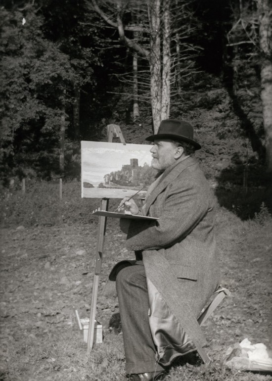 Henry Wood painting in Scotland, 1938