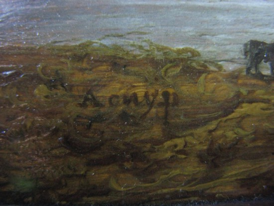 Detail of A. Cuyp's signature