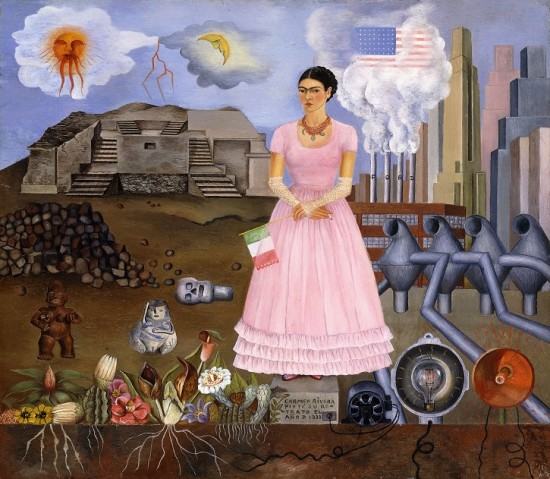 Self-portrait on the Border between Mexico and the United States of America