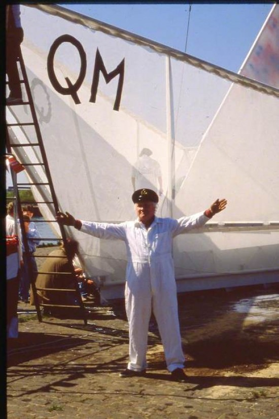 George Ralston Wyllie (1921–2012) with 'The Paper Boat'