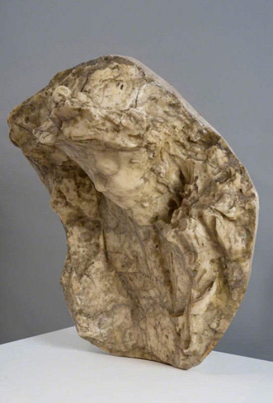 Audio description of 'Impressions of the Boulevard: Woman with a Veil' by Medardo Rosso