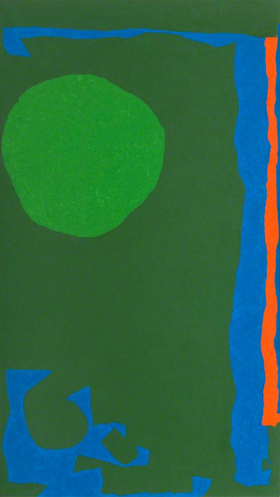 Rumbold Vertical Four: Green in Green with Blue and Red: September 1970