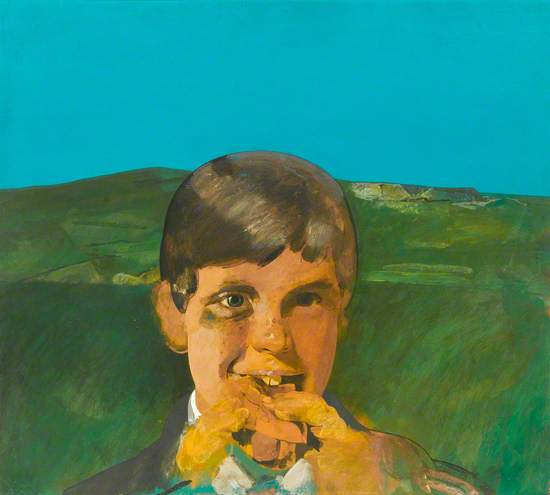 Boy Eating a Hot Dog
