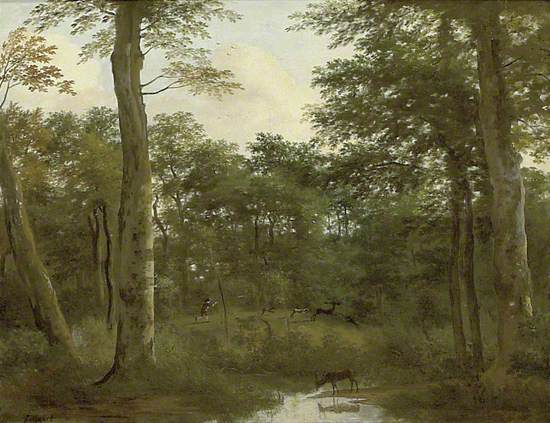 A Stag Hunt in a Wood