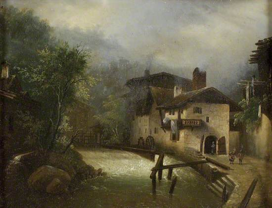 A Mill in a mountainous Landscape