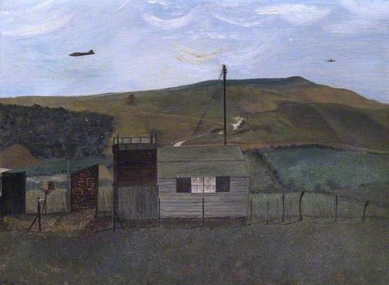 The Observer Corps' Hut in Parrott's Field near Uffington, Oxfordshire