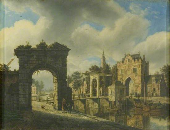 Canal Scene with Drawbridge