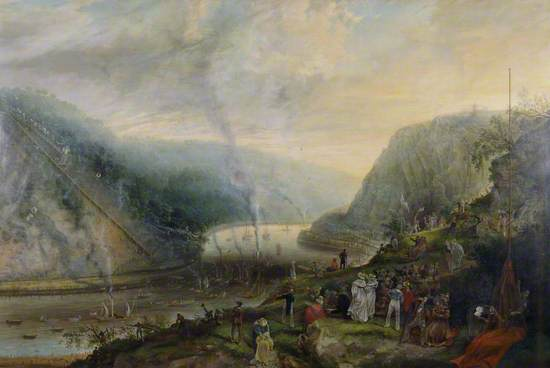 The Ceremony of Laying the Foundation Stone of the Clifton Suspension Bridge, 1836