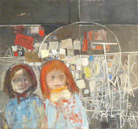 Children and Chalked Wall No. 2