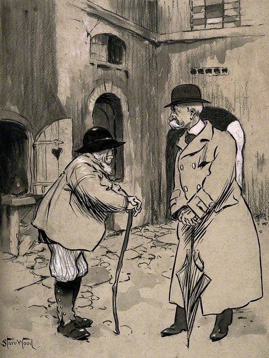 A Rural Man Talking to His Physician in the Street