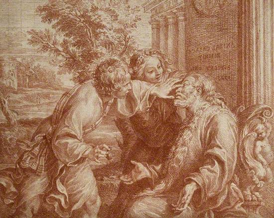 Tobit Anointing His Father's Eyes